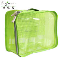 customizable high quality hot foldable fashionable green polyester travel bag duffle bag for school student or adult traveling