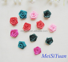 Handmade satin ribbon flower for decoration