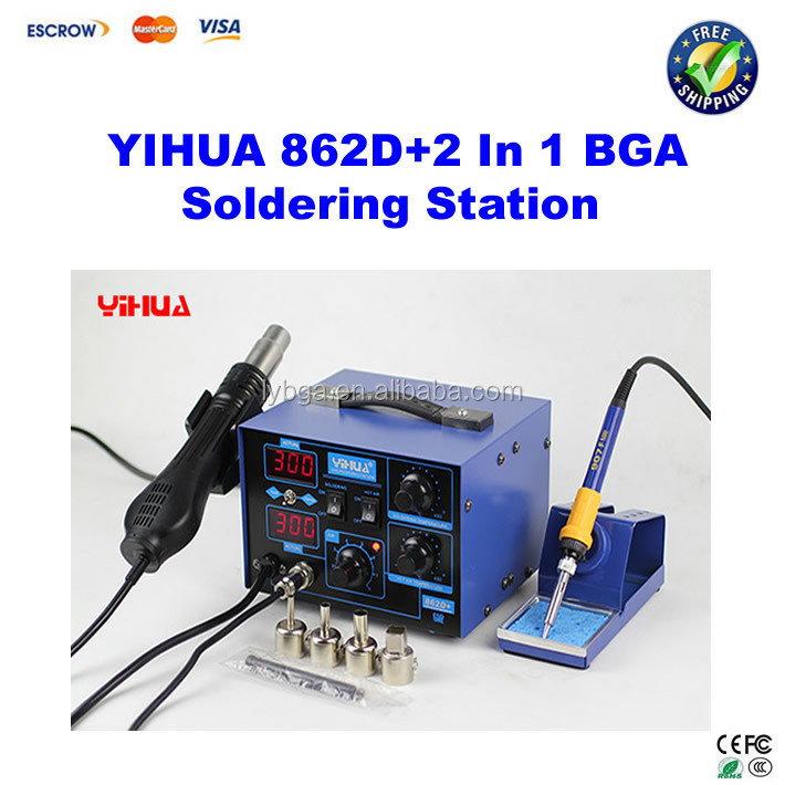 YIHUA 862D+ 2 In 1 BGA Rework Station Tool / Cell Phone Soldering Station