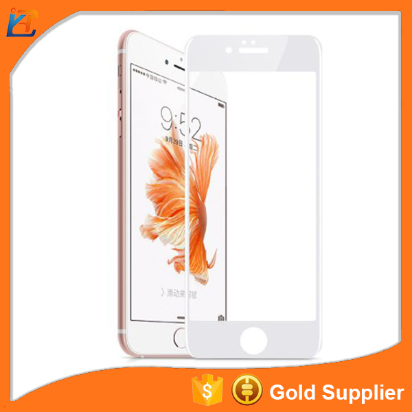 Anti spy 0.26mm clear gold colorful plating crystal tempered glass screen protector for iphone 6
