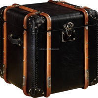 High Quality Retro Vintage Leather Trunk