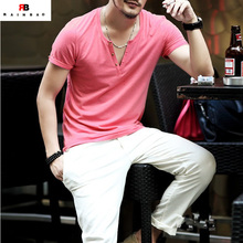 Hot sale design your own v neck t shirts men