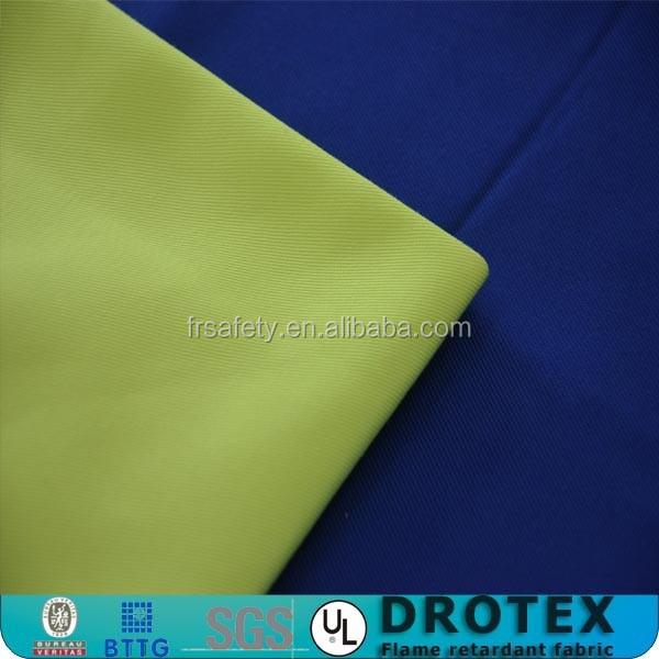 Anti-static high viz polyester fabric coated cotton hi vis FR fabric
