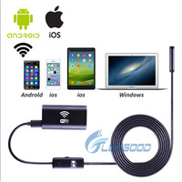 2017 wholesale 1m mini pipe inspection HD720P 8mm IP67 Waterproof wifi endoscope Camera for Android and IOS