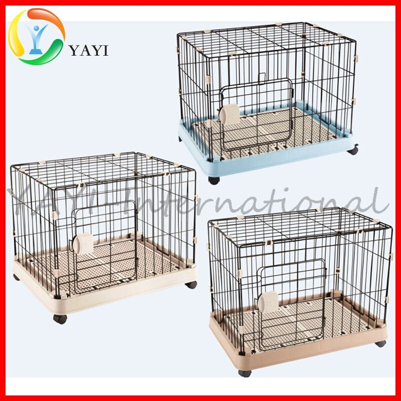 Stainless Steel Pet Cage Dog Crate With Wheels