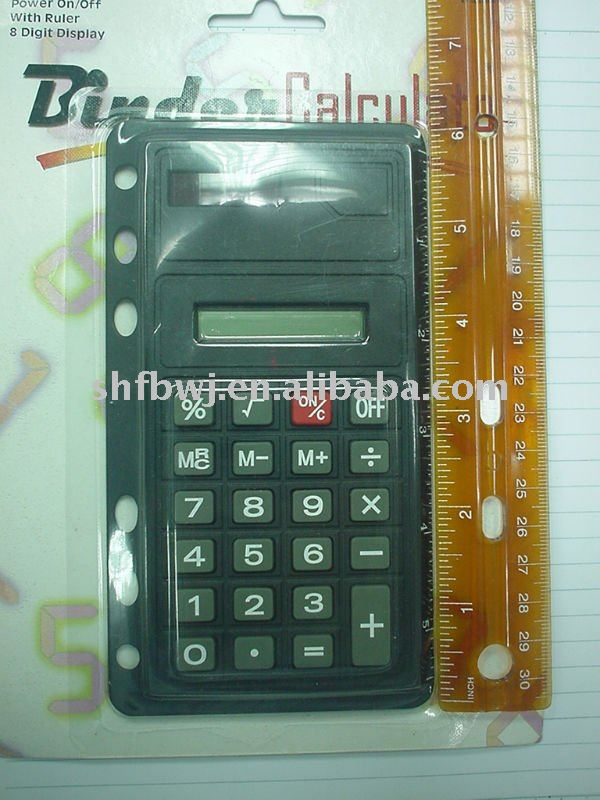 ruler calculator with 6 hole 960