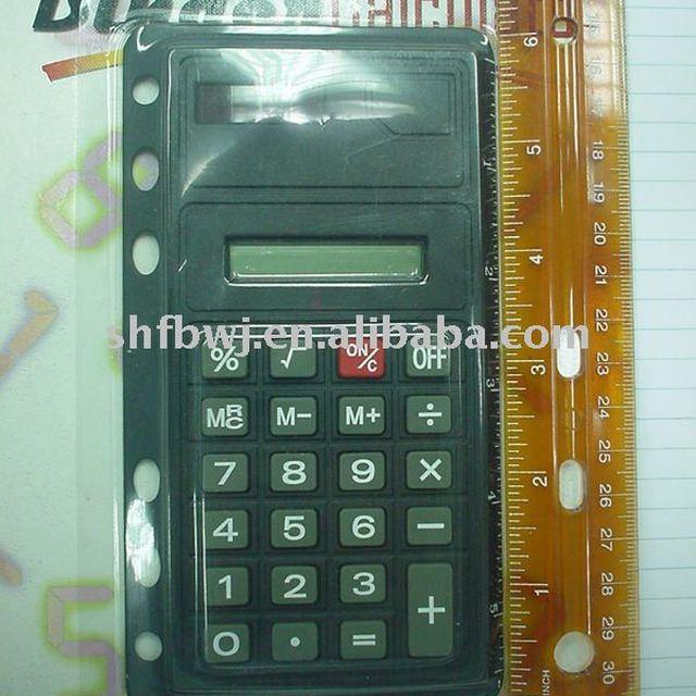 ruler calculator with 6 hole 960