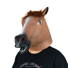 Competitive Price For High Quality Latex Animal Party Horse Head Halloween Costume Horse Head Mask