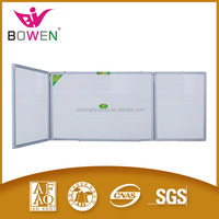 2016 Good magnetic whiteboard or green chalk folding dry erase double side board type BW-V1