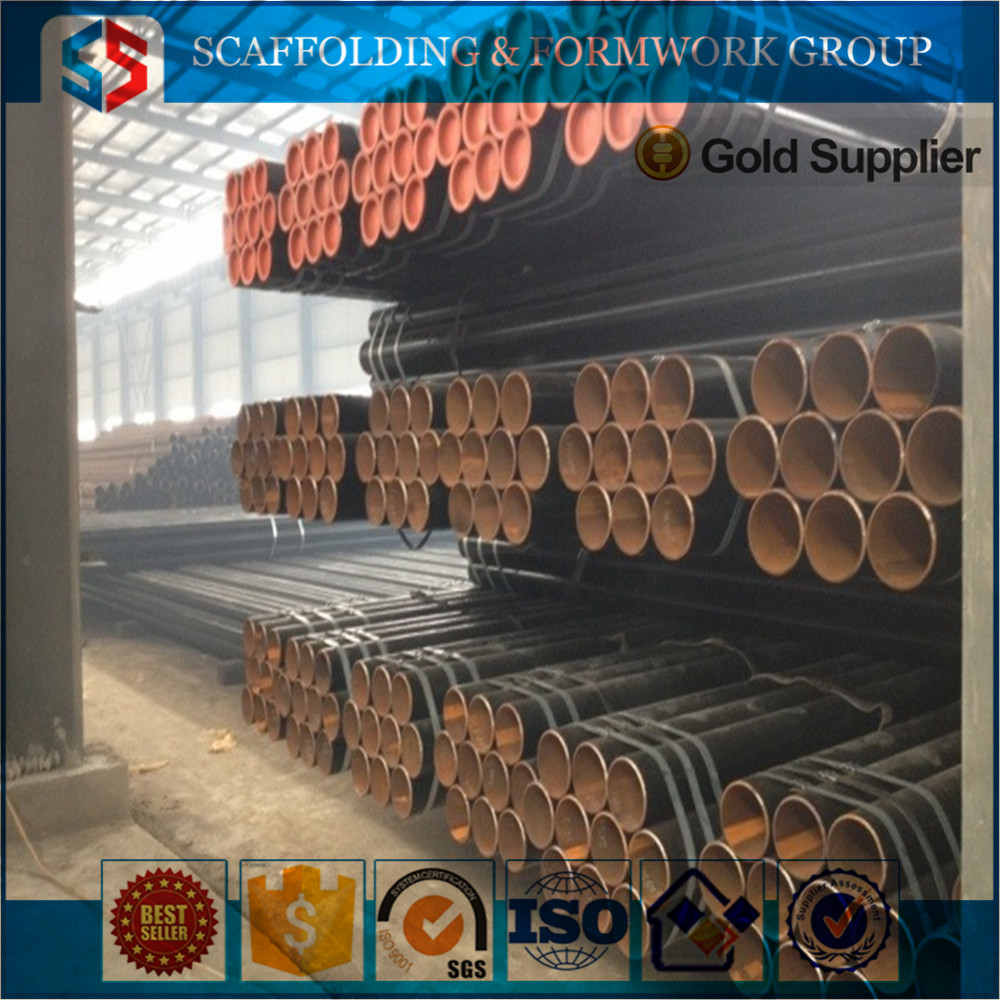 SS Group164 Heavy/Light Duty Construction Materials Scaffolding Black Welded Steel Pipe From Tianjin Shisheng Group
