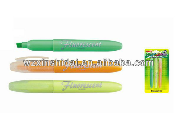 Fluorescent Non-Toxic Chisel Tip Highlighters For Kids