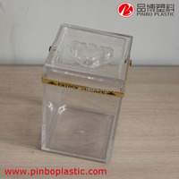 clear plastic ice buckets wholesale,custom beer rectangle ice bucket