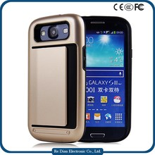 Customed Logo Shockproof Mobile Phone Cover Case with Card Slot For Samsung Galaxy S3 i9300