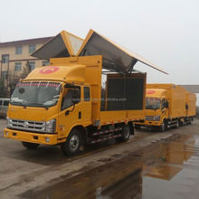 China Euro 4 5tons light trucks 4x2 Foton hydraulic open type wing van truck