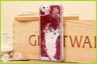 Glitter free flowing liquid star clear mobile phone case for iphone 5 5S