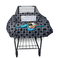 2-in-1 Baby Shopping Cart Cover & High Chair Covers with Safety Harness for Babies & Toddler