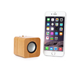 Natural wireless portable bamboo wooden mini bluetooth rechargeable stereo speaker