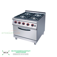 industrial 4 Gas Burner with Gas Oven , Induction Cooker With Gas Stove