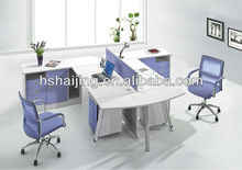 2012 Hot-sale Modern Office workstation with hardware legs metal office desk