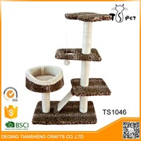 Comfortable OEM Design pet house cat tree shelves