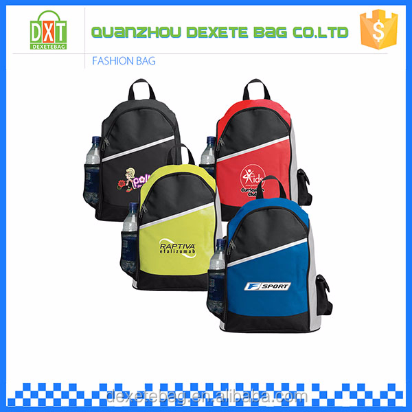 Hot sale cheap big capacity polyester colorful camping backpack