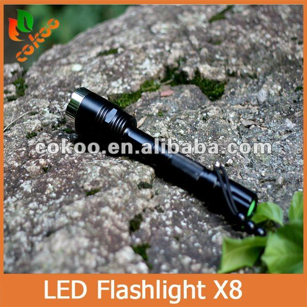 Promotions!UltraFire X8 Hunting Flashlight High Power 5 MODE 1800 Lumens Cree XM-L T6 Waterproof LED Flashlight