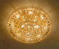 China wholesale crystal lights high ceiling mounted lamp VOL