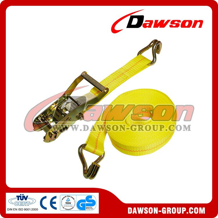 US Standard Ratchet Tie Down Strap With Wire Hooks China Manufacturer Supplier