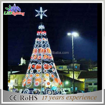 Festival Decorations Iron Frame Spiral led Christmas Trees