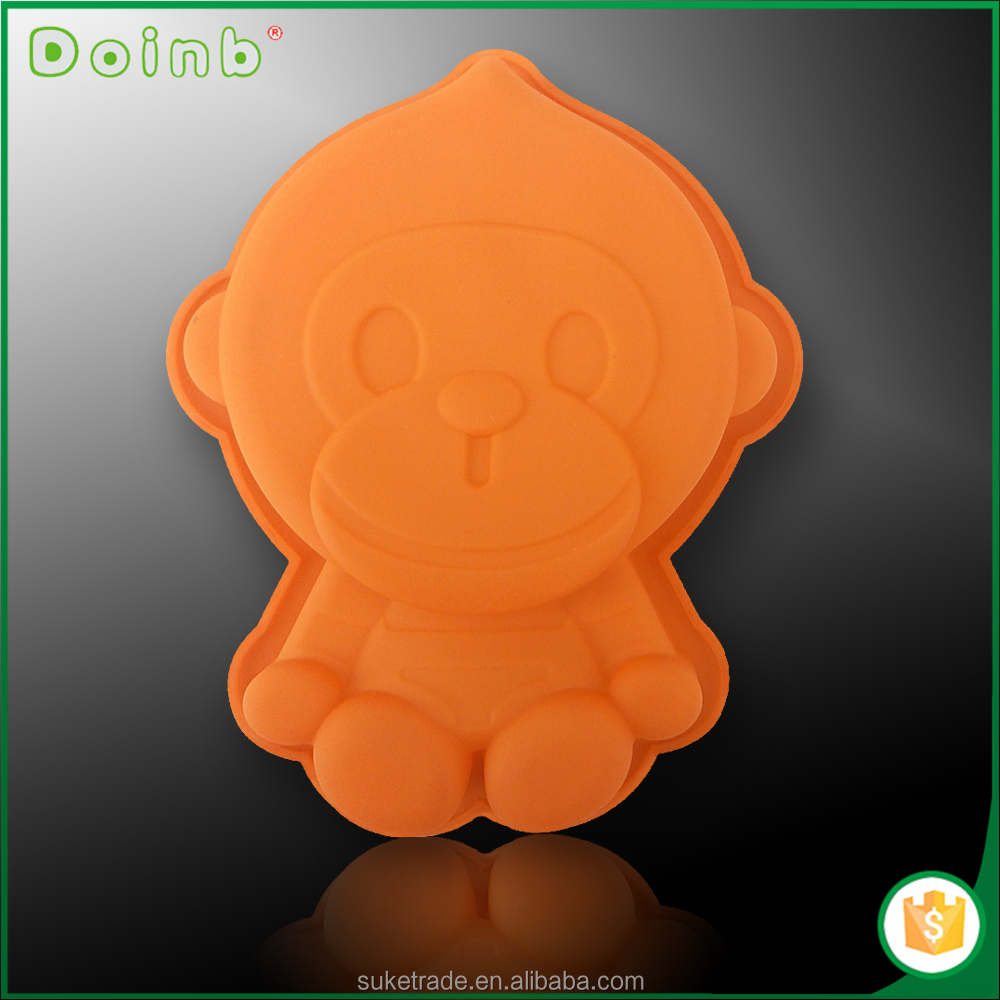 Doinb Amazon hot sale China wholesale factory direct price monkey shaped silicon silicone cake mold ST1509