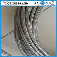 Professional manufacturer directly sales stainless steel braided PTFE Hydraulic hose in stock