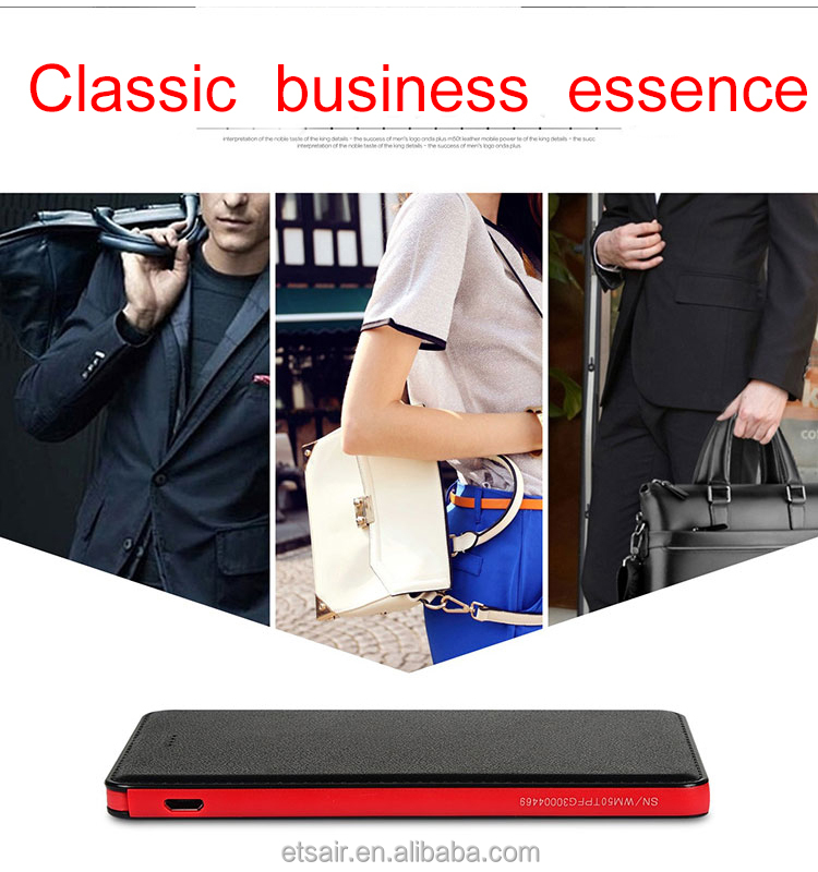 Thin Slim Power Bank 20000mah Portable Charger External Battery 20000 Mah Mobile Phone Charger