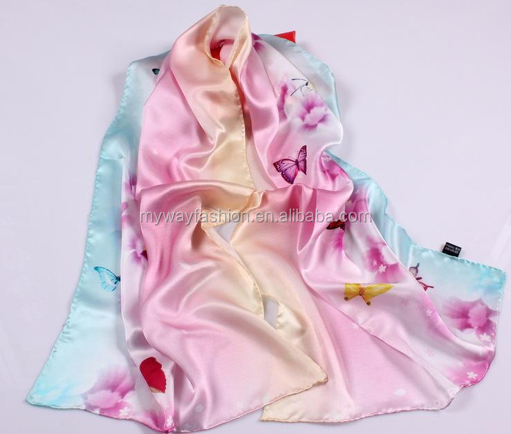 long hand hemming 100 silk fashion shawl scarf