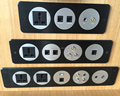 OME Aluminum panel universal power data socket outlet RJ45 network for conference table/wall mount power panel socket