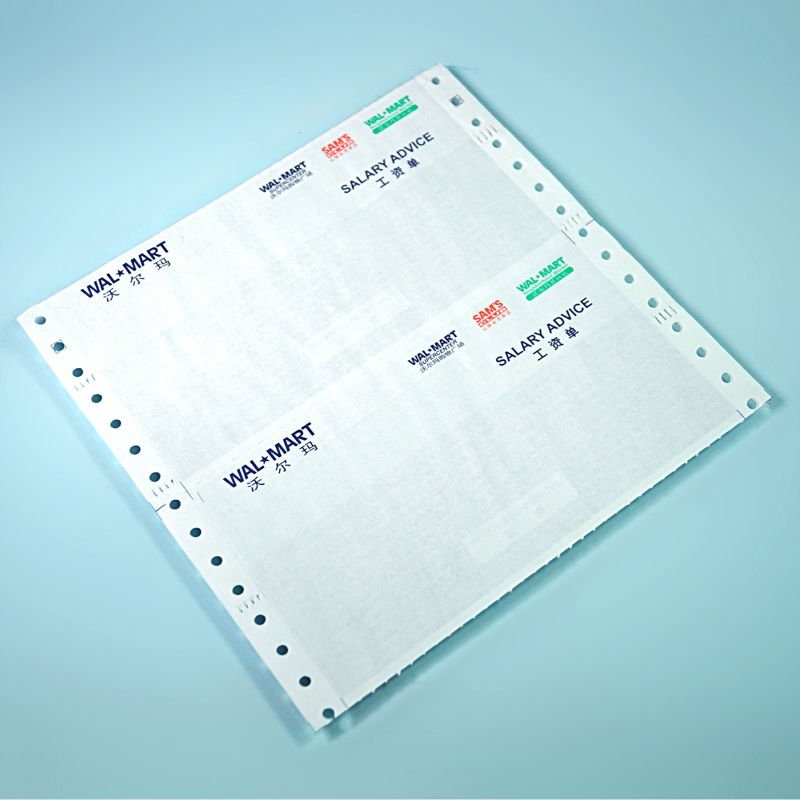 Confidential envelop made by continuous paper