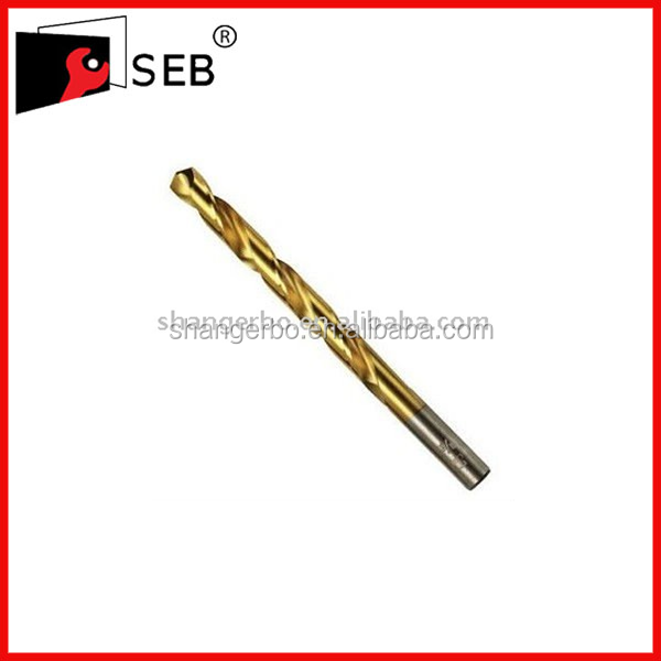 DIN338 HSS Straight Shank Twis Drill Bit With Titanium Nitride Coated