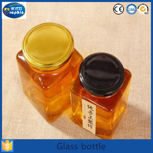 80ml square color glass jam jars and lids