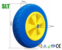 3.50-8 PU foam wheelbarrow wheels trolley wheels puncture proof tires