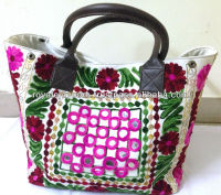 New Latest design Trendy Suzani embroidery beautiful tote bags
