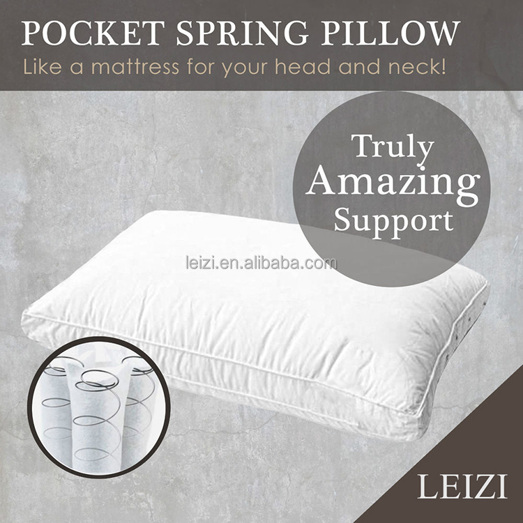 China Supplier New Pocket Spring Pillow for Supermarket