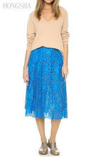 2016 Mature Women Blue in Lace Skirt Ladies HSS2270