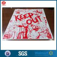 Halloween party supplies scary zombie and spooky door & window & wall decorative covers