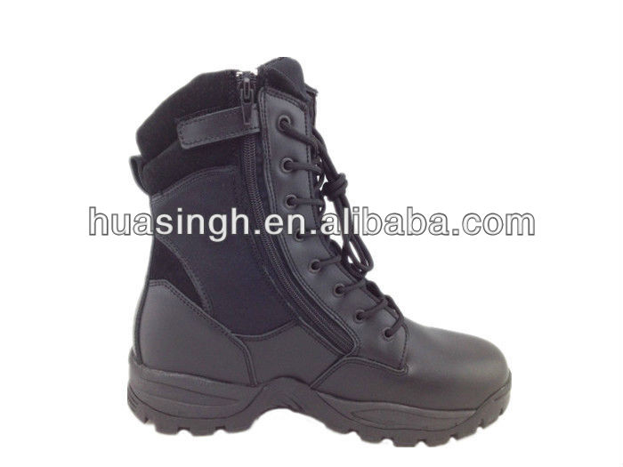 military surplus law enforcement tactical gear army boots with coil side zipper