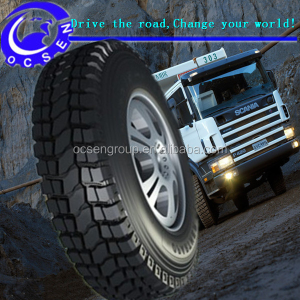 Good grasping performance extra deep pattern best chinese brand truck tire