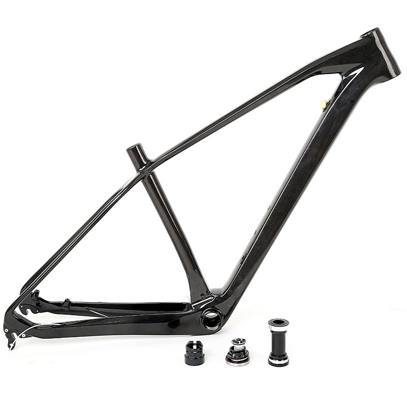 China 2017 oem super light high quality low price carbon frame t1000 mountain bike frame 29er with BB92 press