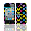 for iphone 4 case with custom design, colorful heart image phone case, couple case for iphone 4