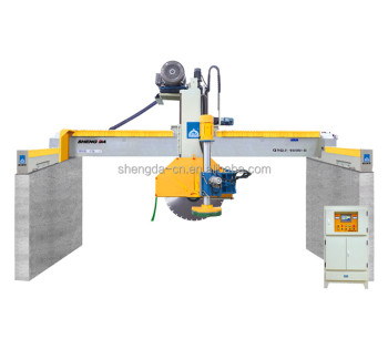 Marble bridge block cutter with horizontal blade