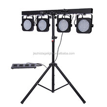 4 sets 144pcs 10mm RGB led par bar kit stage light stands with foot controller