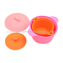 Multi Function Kitchen Bowl Unbreakable Silicone Microwave Collapsible Mixing Bowl