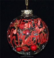 "2016 alibaba hot item, 80mm cheap glass ball with ""Merry Christmas"" as christmas beauty decor from art and craft supplies"